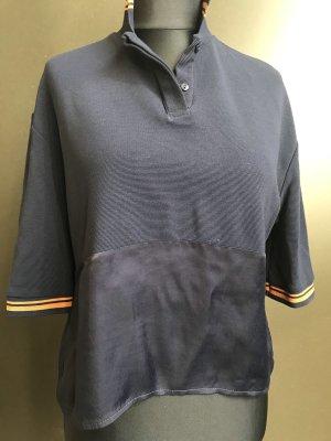 Mango Polo Shirt dark blue-sand brown
