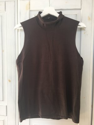 Hugo Boss Camisa de cuello de tortuga marrón oscuro