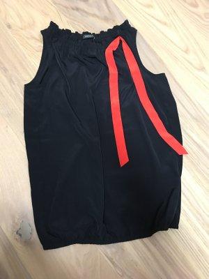 Esprit Top in seta nero-rosso