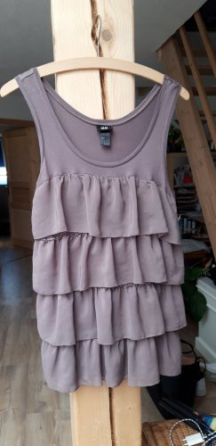 Frill Top mauve-grey violet