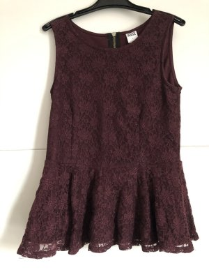 Vero Moda Frill Top purple polyester