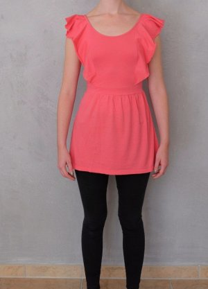 Glamorous Empire Waist Top pink cotton