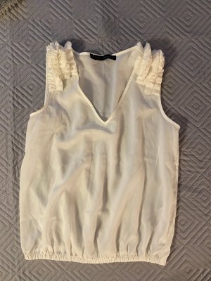 Zara Frill Top white-natural white