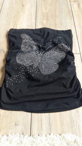 Top mit Schmetterling aus Strasssteinen