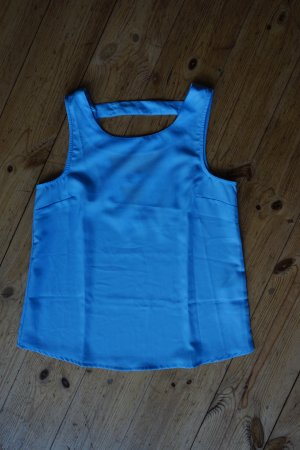 Only Rugloze top lichtblauw Polyester
