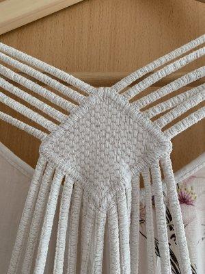 0039 Italy Top z odkrytymi plecami biały-różany