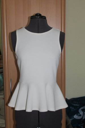 H&M Peplum Top cream polyester