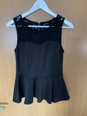 Amisu Crochet Top black