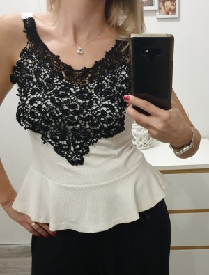 Lace Top black-natural white