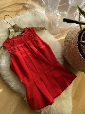 H&M Off-The-Shoulder Top dark red-red
