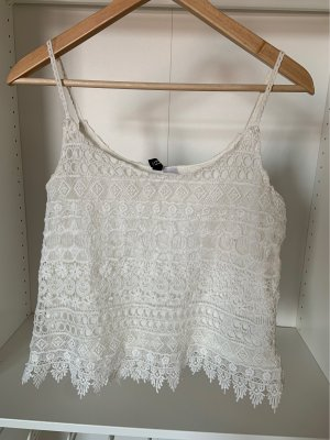 H&M Lace Top white