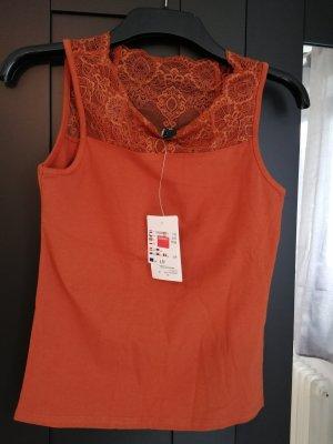 Takko Top di merletto arancione scuro