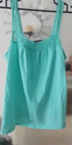 Top di merletto azzurro Cotone