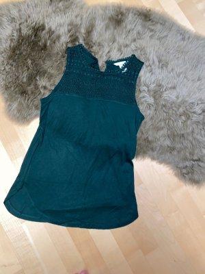 H&M Top di merletto verde scuro