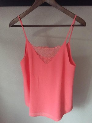 Lace Top bright red