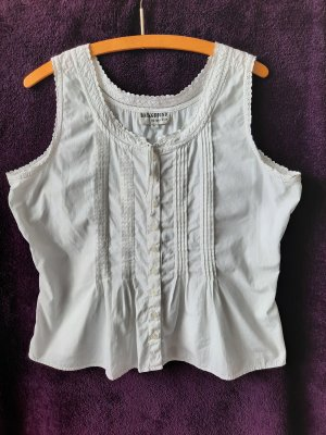 Background Blouse Top white