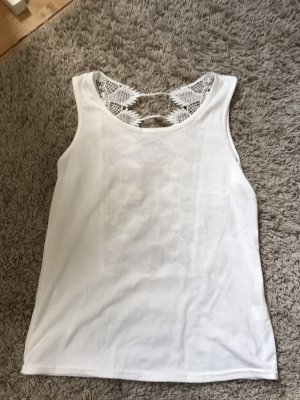 italienische Mode Blusa sin espalda blanco