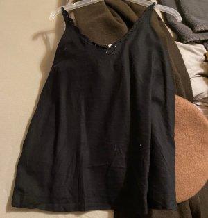 Roxy Haut évasé en bas noir coton