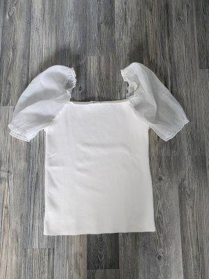 Zara Top z falbankami biały