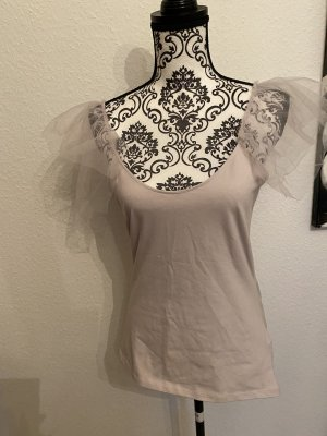 Zara Flounce Top mauve cotton