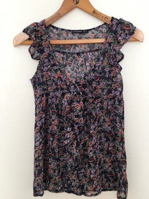 Atmosphere Frill Top black-lilac