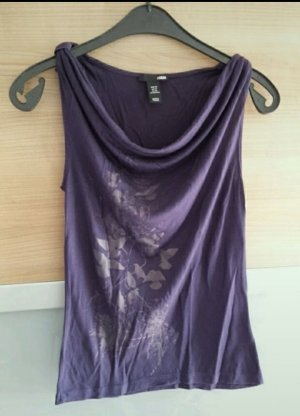 H&M Cowl-Neck Top lilac-dark violet