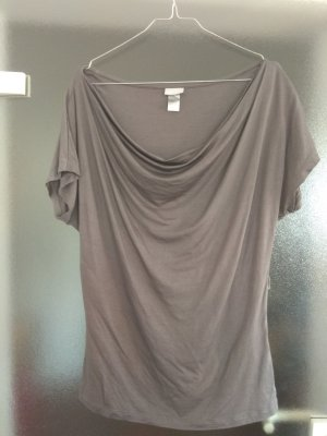 H&M Cowl-Neck Top grey