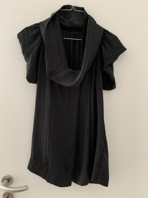 Sisley Cowl-Neck Top black polyester