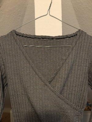 Maglietta aderente bianco-nero