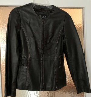 Barisal Leather Jacket black brown