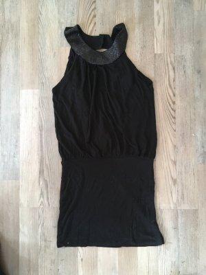 Top Neckholder in schwarz mit Pailletten von H&M Größe XS