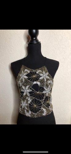 Top neckholder Oberteil Exquisites besticktes Kleidungsstück aus L.A. TopShop 38