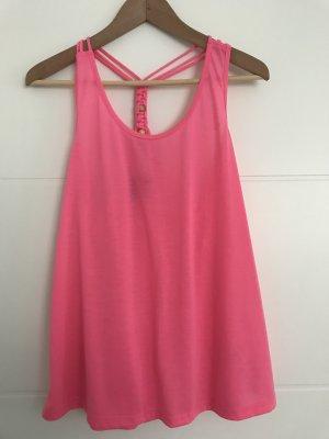 H&M Top o kroju litery A różowy neonowy