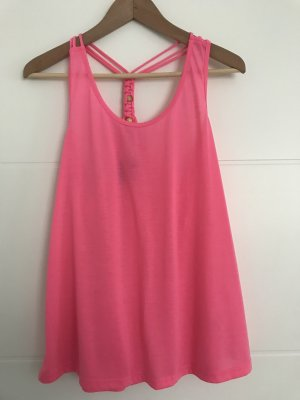 H&M A Line Top neon pink