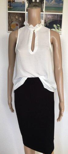 H&M Conscious Collection Blusa de cuello alto blanco puro