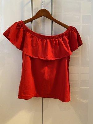Blusa alla Carmen rosso