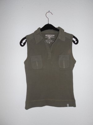 Blind Date Polo Top olive green