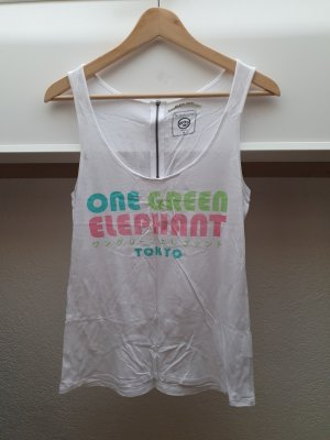 One green elephant Top de tirantes blanco