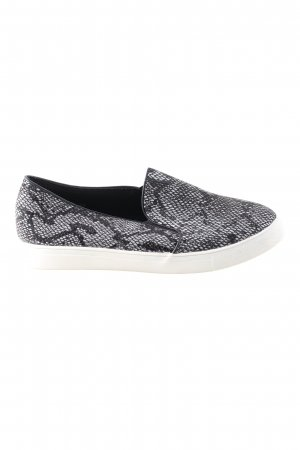 top or Slip-on Sneakers black-white animal pattern casual look