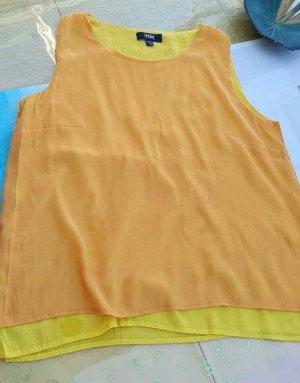 Top Orange-gelb 2Lagig Baumwolle TCM 42/44 neuwertig
