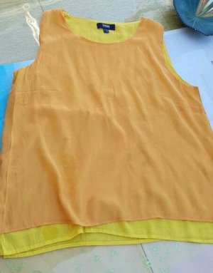 Tchibo / TCM Top linea A giallo neon-arancione Cotone