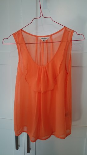 Top orange Shirt Bluse ärmellos  transparent von Herrlicher Gr. XS