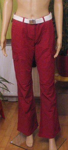 Top Pants von EDC by ESPRIT in dunkelrot..wandern..Größe DE 36 Regular