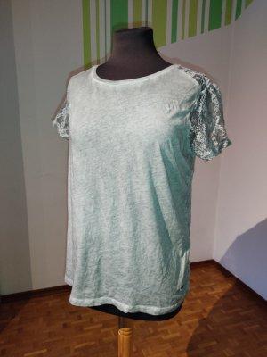 Top, Pepe Jeans, Gr. 36, T-Shirt, Netz, Spitze