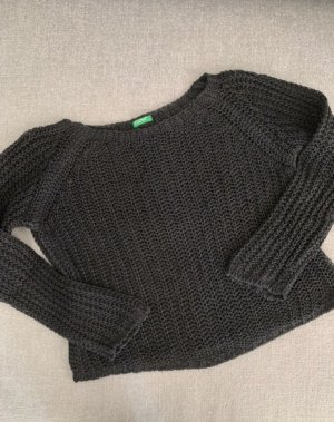 Benetton Knitted Sweater black