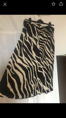 H&M Spódnica w kształcie tulipana czarny-kremowy