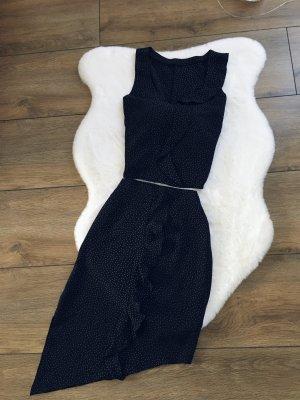 Falda tulipán negro-blanco