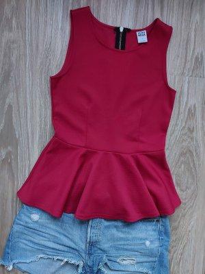 Vero Moda Top z baskinką czerwony
