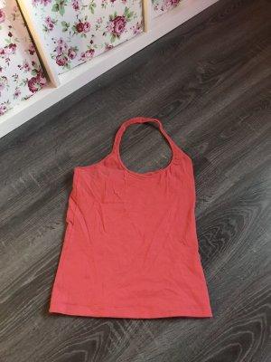 Top rückenausschnit rückenfrei orange neon rot pink Sommer