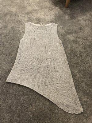 H&M Top de punto gris claro